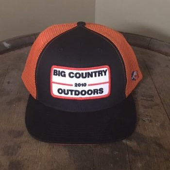 BCO Hat - Black with Orange Mesh